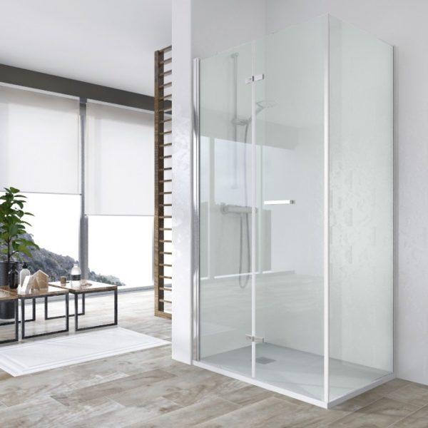 Mampara de ducha rectangular puerta abatible