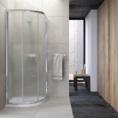 Mampara de ducha SEMICIRCULAR-2-FIJOS-2-PUERTAS