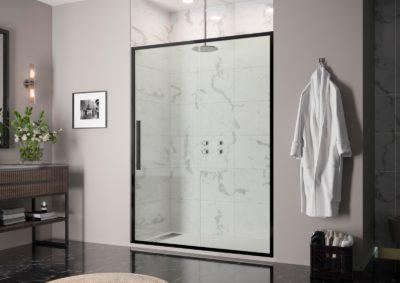 Mampara de ducha frontal sin serigrafia